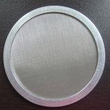 A malha de aço inoxidável 304 emoldurado disco filtrante redonda industrial
