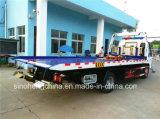 Camion di Wrecker a base piatta caldo di /4X2 del camion di rimorchio di Isuzu 130HP di vendita