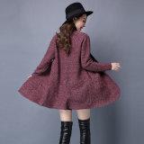 長くマキシのコートの厚いカーディガンのセーターのコートヨーロッパを編む女性のカーディガン