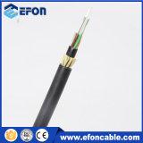 Hilo de Kevlar 12 núcleos G652D Cable de fibra óptica monomodo ADS