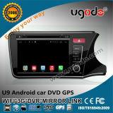 """Ugode 9 """" GPS van Core Car DVD van de Vierling voor GPS van de Stad van 2015 Android Righthand Drive WiFi 3G"""