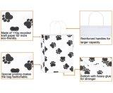 Kraft bolsas de regalo perro de la Paw Imprime las bolsas de papel con asas, Paw Imprimir Bolsas de regalos para ir de compras, papel, de Fiesta