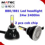 Kit H4 9007 del faro dell'automobile LED dell'accessorio automatico 9004 lampadine del faro di H13 H11 LED