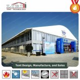 Arch Aluminum double Decker Tents for Sporting with ABS hard barrier as permanently Building