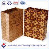 Saco feito sob encomenda do papel de embalagem de Brown, Saco de papel de Brown, saco de compra de papel luxuoso
