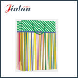 Glossy Laminated Art Paper Stripes Daily Shopping Sacs à main en papier cadeau