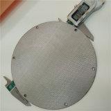 Monel profissional aglomerou o disco aglomerado do filtro do engranzamento de fio do metal