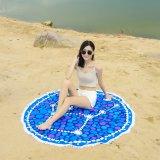 Tovagliolo di spiaggia circolare stampato attivo