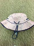 Chapéu flexível personalizado de Sun da tira da cubeta da forma do bebê para o verão