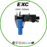 18650 bateria recarregável do Li-íon de 3.7V 2200mAh