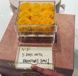 서랍을%s 가진 아크릴 명확한 꽃 상자