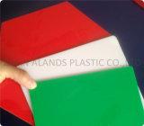 Cast feuille acrylique clair/blanc laiteux/rouge/jaune/bleu