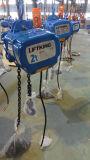Grúa de cadena eléctrica de doble cadena de retorno con 2t de capacidad de elevación