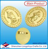 Immagine del fronte della guida su ordinazione del distintivo 3D dell'oro del distintivo del ricordo dei UAE