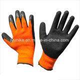 Терри петель из пеноматериала из латекса гильзы безопасности рабочие перчатки