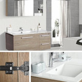 Parede Solid Wood Mirror Bathroom Cabinet para a sala de visitas