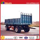 4 осей угля транспорта опрокидывания прицепа в полном объеме с тяговой штанги