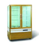 Refrigerador de vidro do indicador do bolo de quatro lados