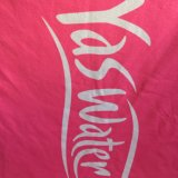 Yas Waterwold Pink Heat Transfer Printed Beach Towel