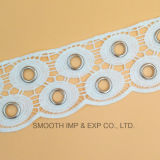 Шнурок оптового металла уравновешивания вышивки способа водорастворимый Eyelets хлопок ткани