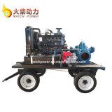 La pompe à eau diesel à haut débit réglé avec 792m3/H Double pompe d'aspiration