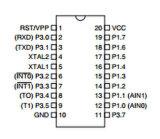 Интегрированный - цепь At89c2051-24PU 8ого-разрядн Microcontroller IC