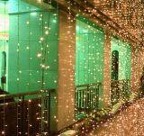 LED 폭포 빛 건물 휴일 휴일 훈장