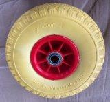 トロリー車輪のプラスチック縁PUのタイヤ