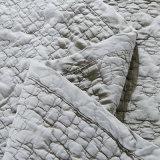 Coperta imbottita grigia del Coverlet del cotone lavata tessile domestica all'ingrosso
