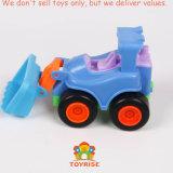 Carro de bolso Brinquedos, veículos de correr conjuntos de brinquedos para bebê caminhões lactentes com mais de 18 meses (Conjunto de 4: Bulldozer, Escavadeira Guindaste, aluguer de carro)