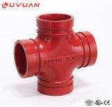 Traversa uguale Grooved del ferro nodulare approvato di FM/UL (accessorio per tubi del fuoco)