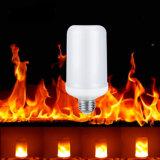 Lampadina del LED con fuoco, lanterna dell'indicatore luminoso di effetto di fuoco del LED