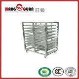 Carrello commerciale di trasporto del cassetto dell'acciaio inossidabile con sei file