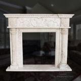 Hand-Carved lareira de mármore para decoração de interiores