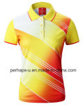 Badminton personnalisé Polo shirt avec logo d'impression