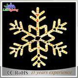 Зеленый мотив рождества снежинки СИД освещает 60*60cm