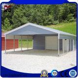 Aço claro pré-fabricado fácil da estrutura da grande extensão da instalação para a garagem