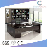 黒いL形の現代机のオフィス用家具木表(CAS-MD1814)
