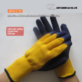 K-129 10 Gauges 5 Threads Polycotton Latex Working Safety Gloves
