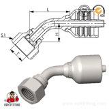 45° JIC 74° femelle du raccord de flexible du raccord hydraulique/ Intégrée le raccord de flexible (26741Y)