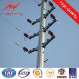 19m galvanisierte Spray-Lack-Straßen-Doppellampe elektrischer Pole