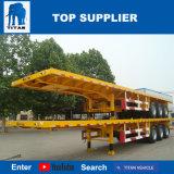 Véhicule de titan - tri essieu 40 pieds de conteneur de remorque de remorque de plate-forme pour des conteneurs