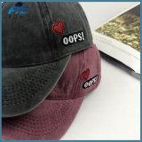 Tampão lavado contínuo dos pares do bordado dos bonés de beisebol do chapéu do paizinho