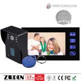 Telefono caldo del portello del video a colori con sbloccare della scheda di RFID