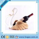 樹脂のDecoraionの動物のワインのホールダーの樹脂の白鳥のワイン・ボトルのホールダー