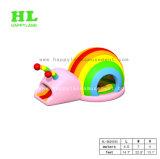 De kleurrijke en Mooie Opblaasbare Springende Uitsmijter van de Regenboog voor Jonge geitjes