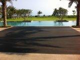 Haltbarer WPC Decking setzt für Preis im Freien WPC hölzernen zusammengesetzten Plastikbodenbelag fest
