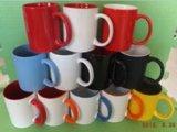 Tasse de café en céramique rouge de traitement de la tasse C de 11 onces (TS-YMB-7102)