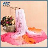 Foulard di seta chiffon della sciarpa delle donne degli scialli del fiore della stampa di promozione di vendita