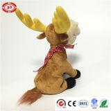 Amour de Noël avec écharpe rouge Marron Plush Sitting Jouet doux